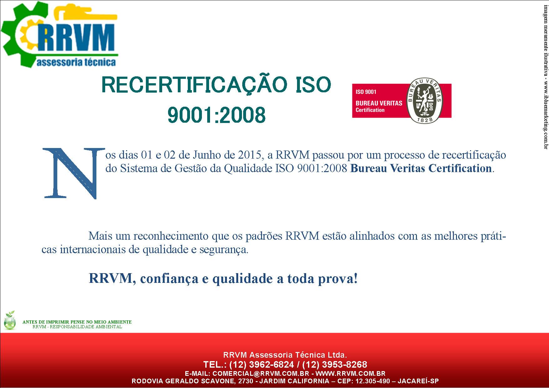 Recertificacao ISO